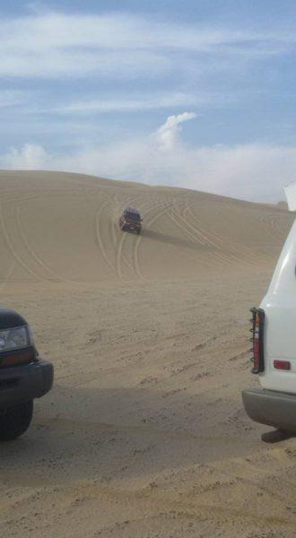 4x4 on the sand dunes