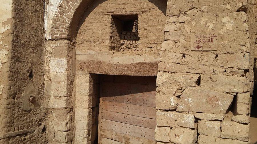 Wooden lintel panel in Al Qasr in Dakhla