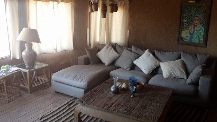 Chalet living space in Al Tarfa