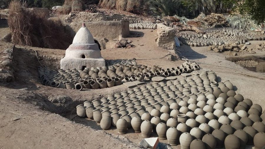 Pottery factory in Kharga oasis