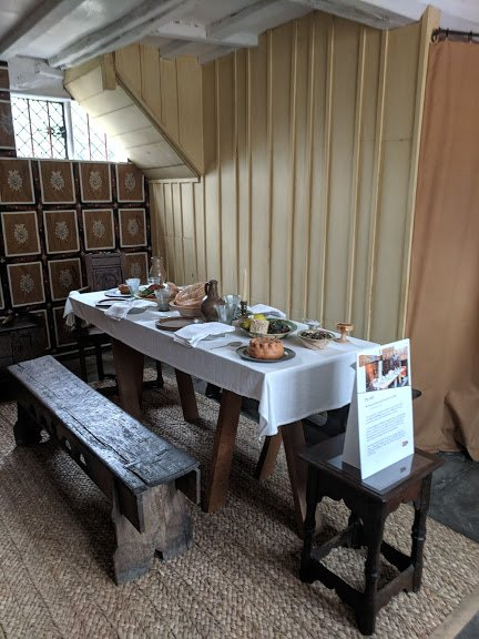 The dining hall at Shakespeare's Birthplace