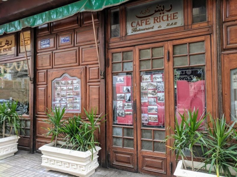 Cafe Riche restaurant and bar in Cairo, Egypt