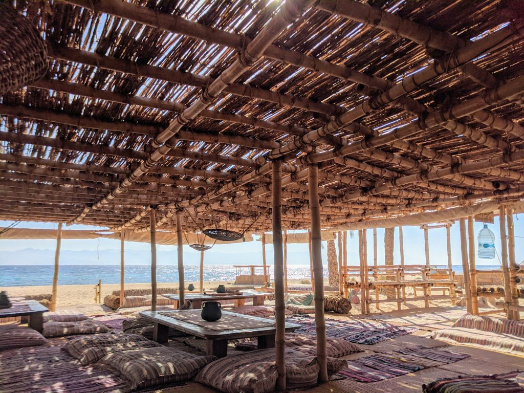 The main hut at Basata eco-lodge in Nuweiba