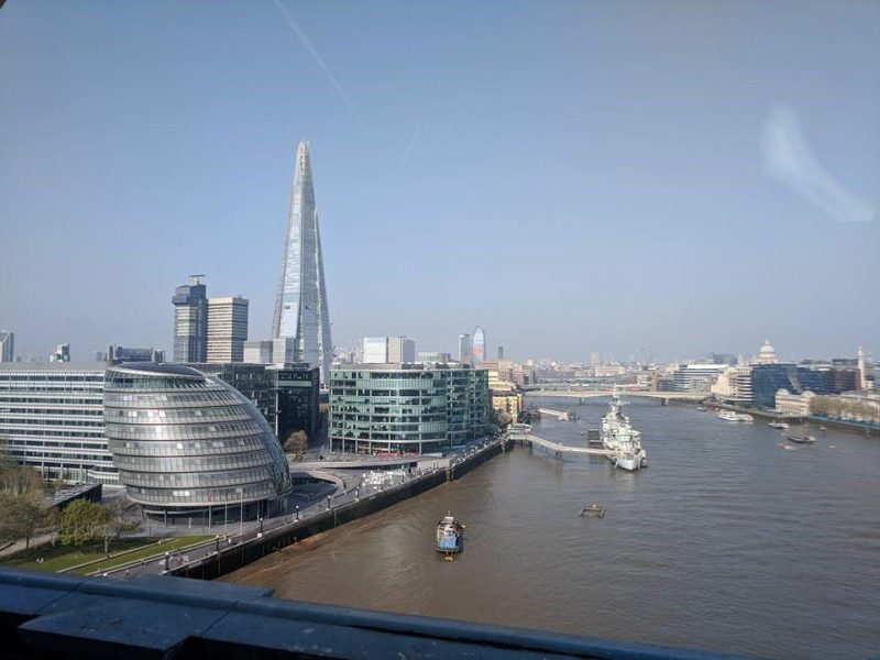 Panoramic view from Tower Bridge
