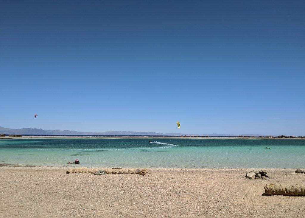 Kitesurfing at Blue Lagoon beach