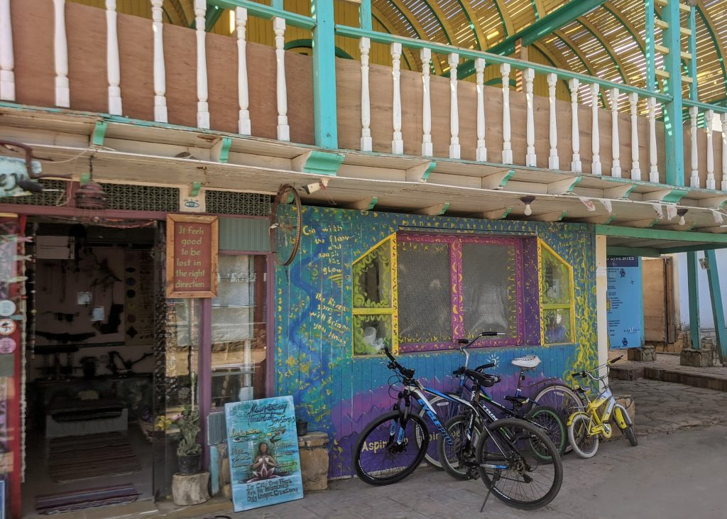 Bicycles in downtown Dahab